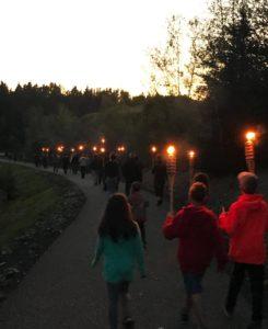 Marche aux flambeaux @ Chalet de l'OTJ