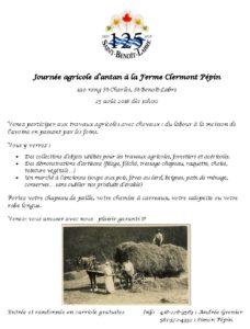 Journée agricole d'antan à la ferme Clermont Pépin @ Ferme Clermont Pépin