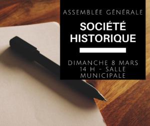 Assemblée générale annuelle - Société historique @ Salle municipale