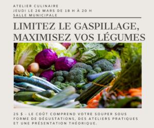 Limitez le gaspillage, maximisez vos légumes @ Salle municipale