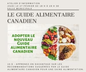 Le Guide alimentaire Canadien @ Salle municipale